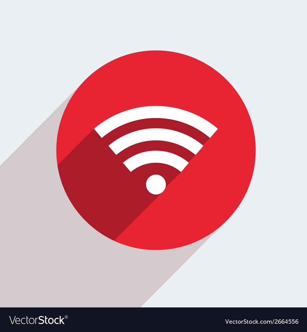 mosern flat wifi circle icon royalty free vector image
