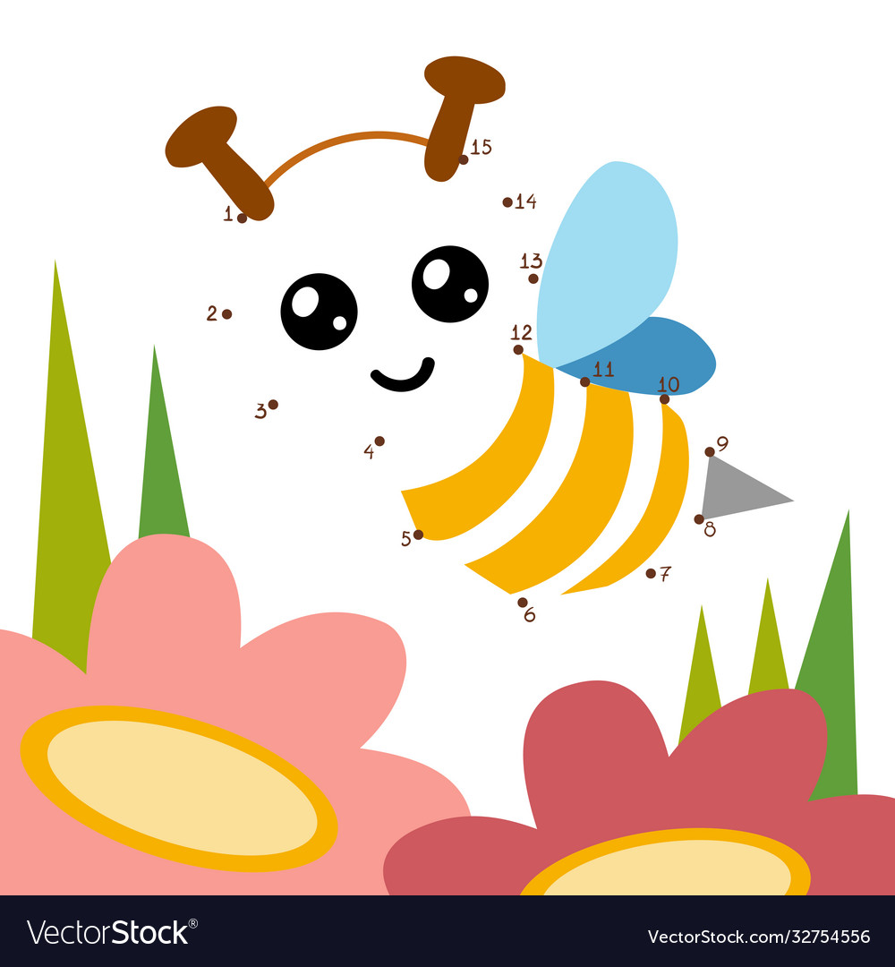 Numbers game for children bee