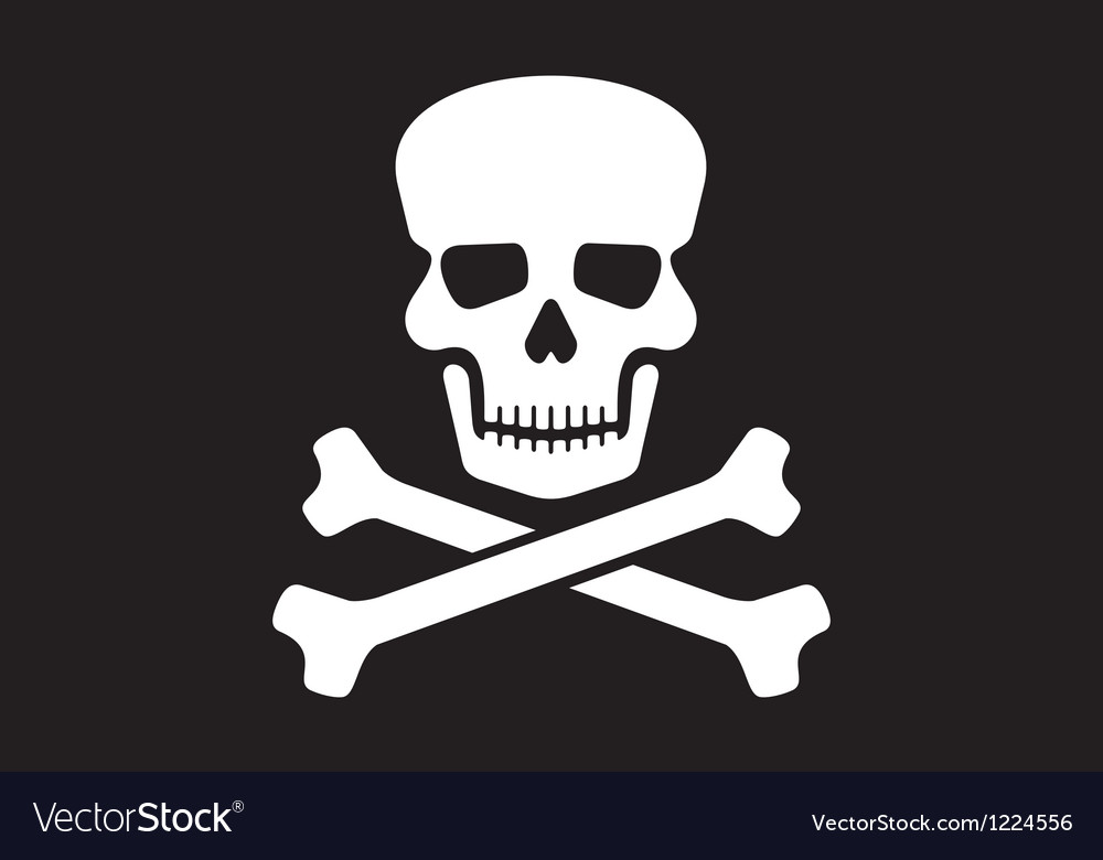 Pirate Flag Royalty Free Vector Image Vectorstock
