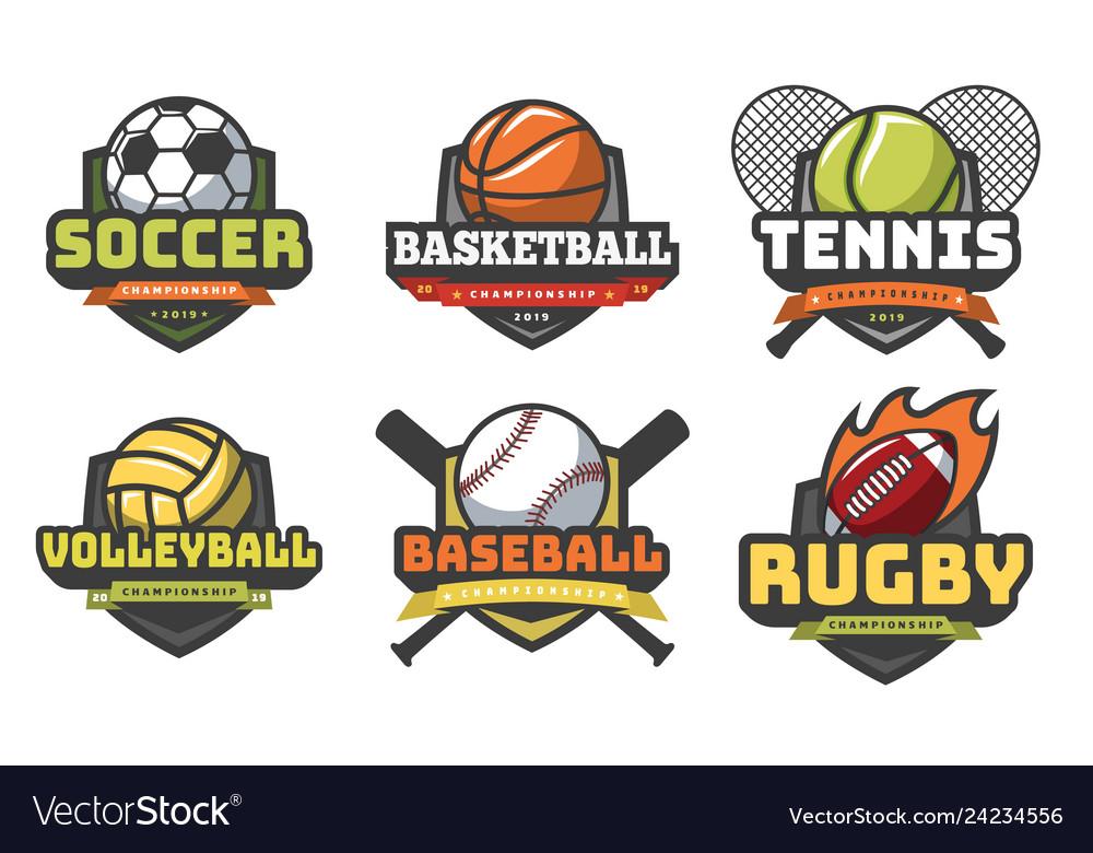 Sports balls logos sport logo ball soccer