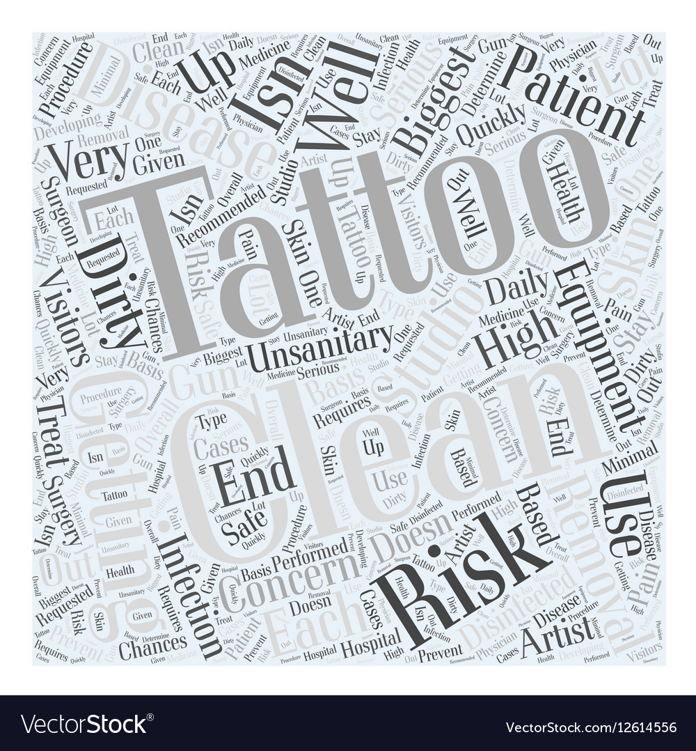The Risks Of Getting Tattoos Word Cloud Concept