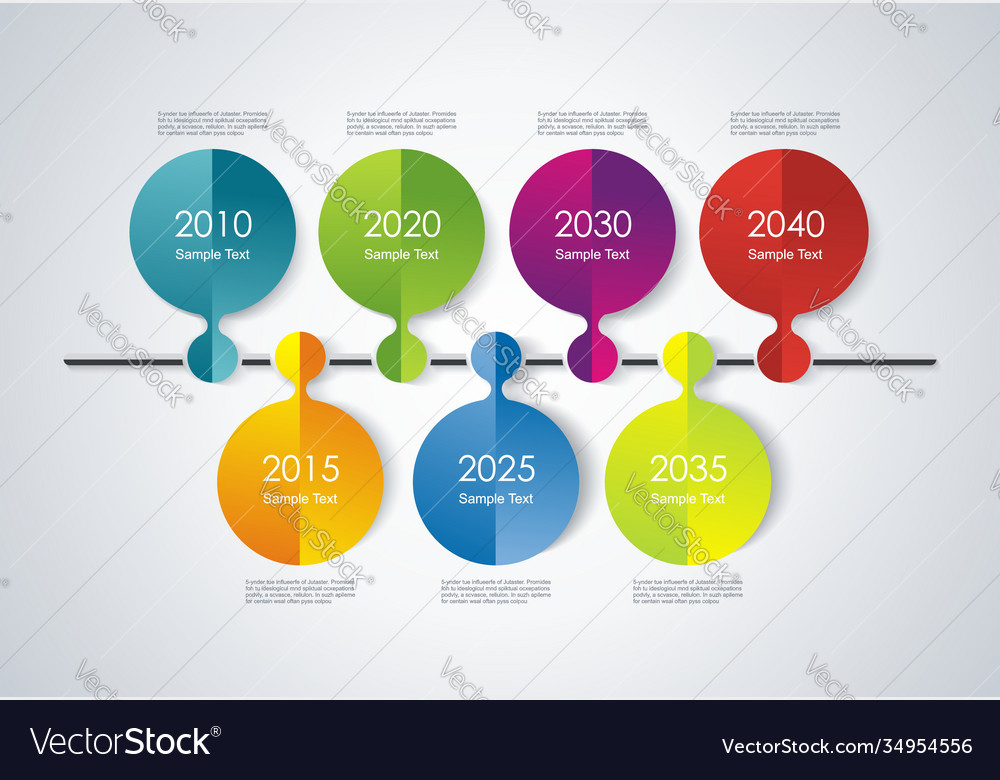 Timeline infographic design for new