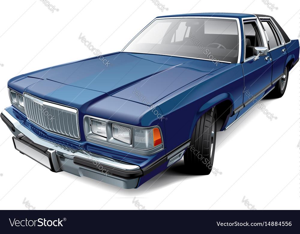 Vintage american full-size luxury sedan