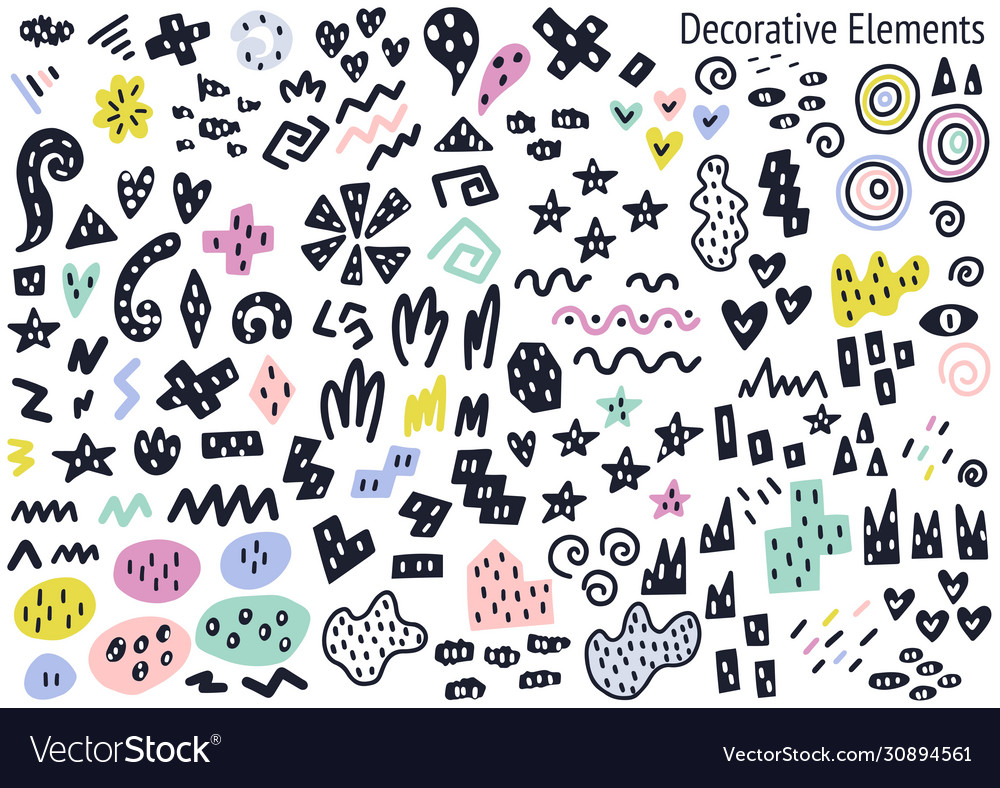 Abstract fillers and decorative isolated elements