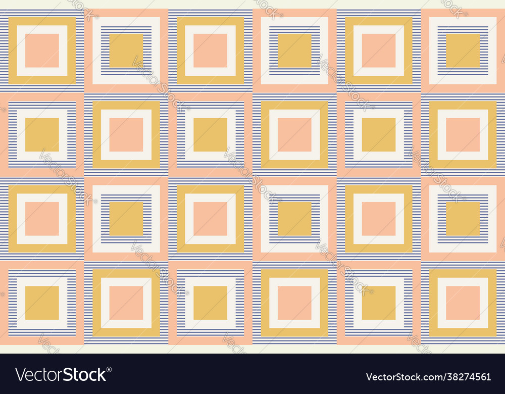 Abstract geometry in retro colors geometric