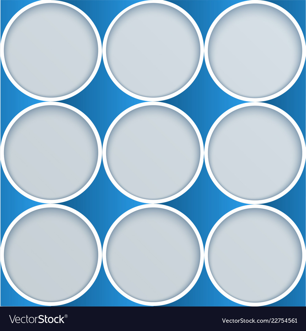 Abstract paper circles advertising template