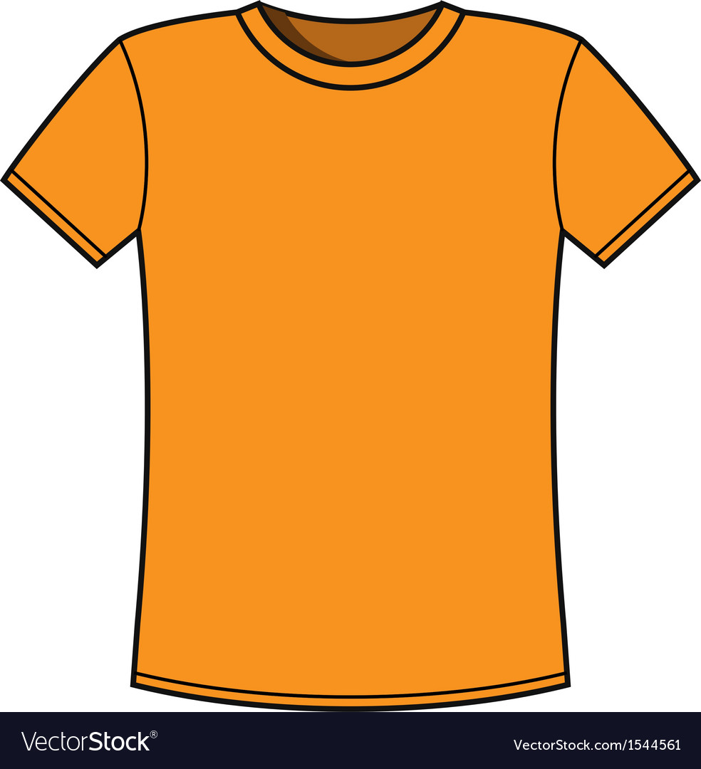 blank yellow t shirt template royalty free vector image rh vectorstock com tee shirt outline vector