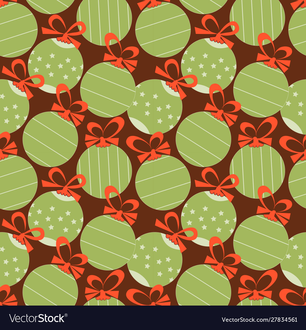 Christmas festive seamless pattern decorative