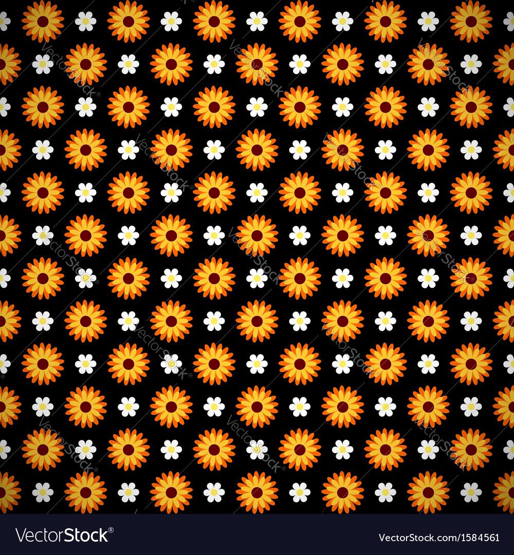 Dark seamless pattern with flowers