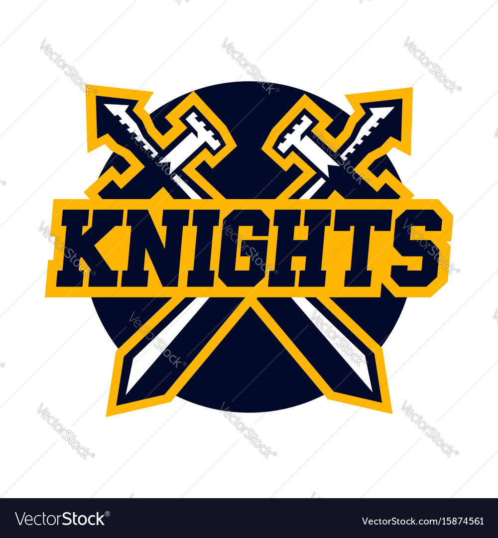 Logo knights swords cross