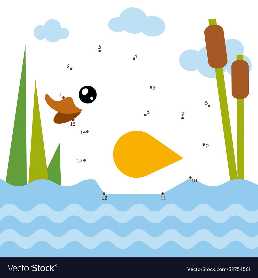Numbers game for children duck