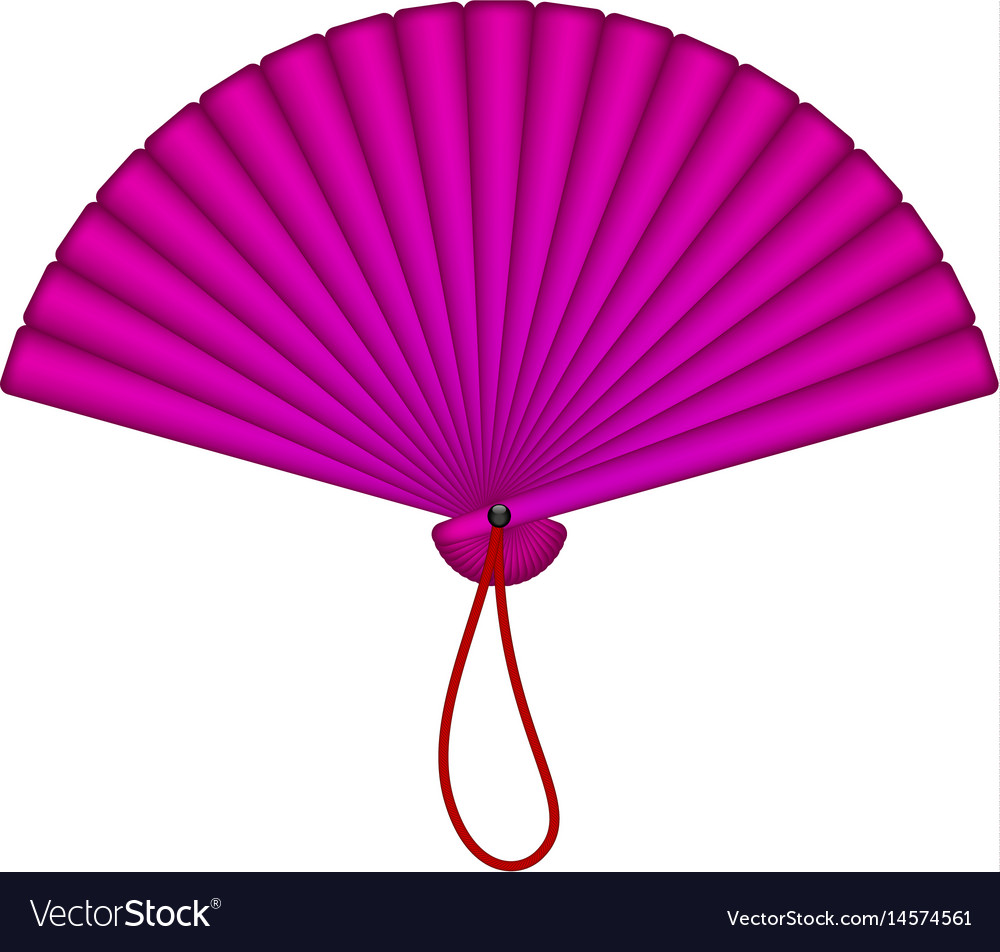 Oriental fan in purple design