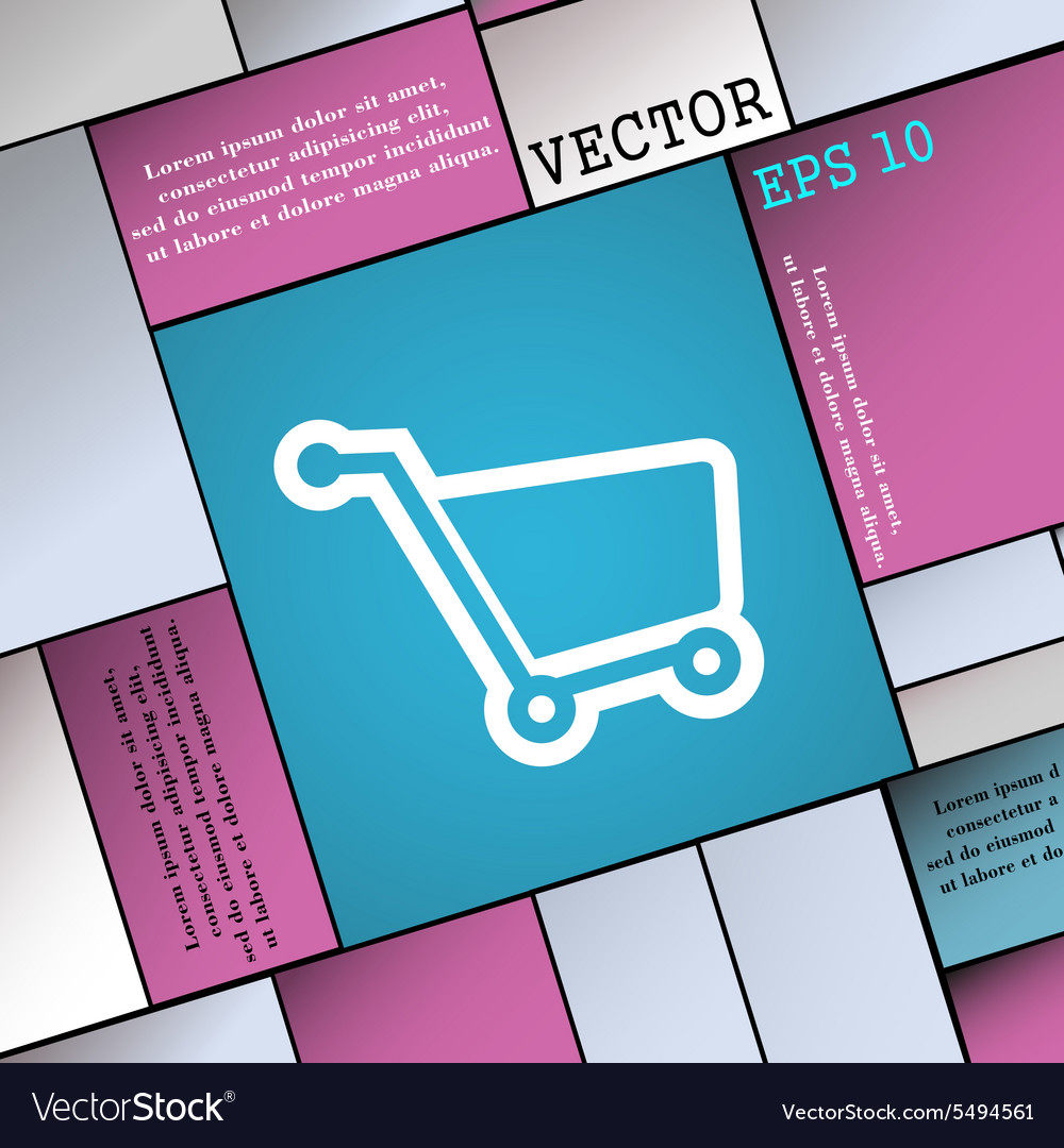 Shopping cart icon sign Modern flat style for your