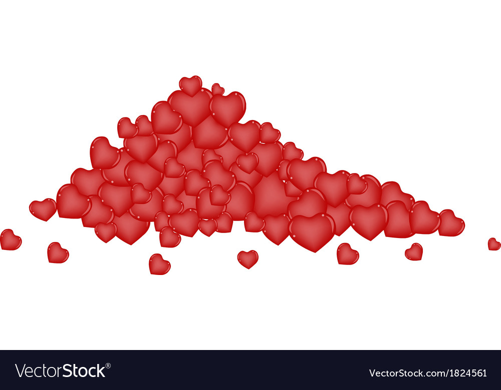 Stack of Chocolate Candies in Heart Shape vector image