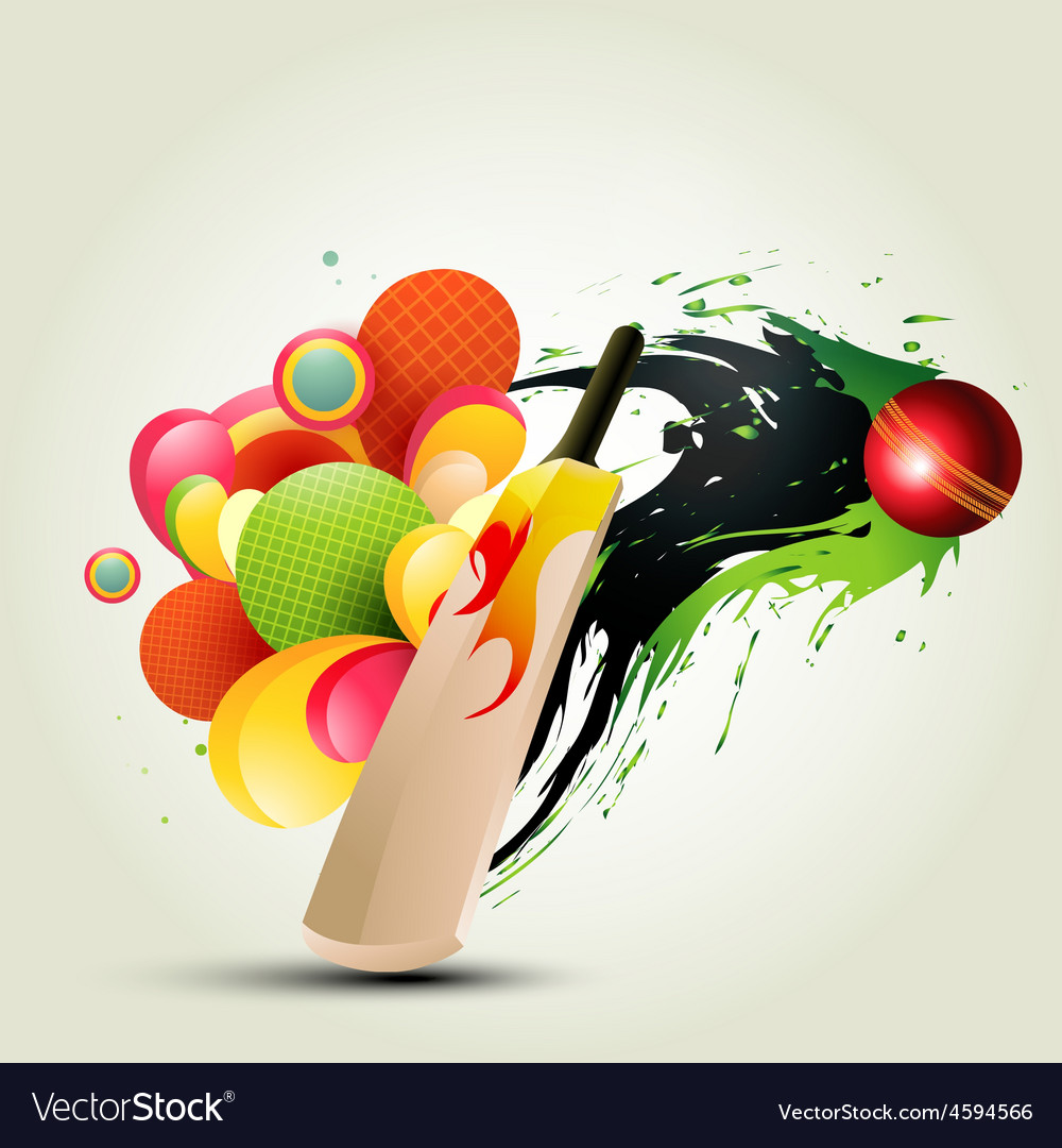 Abstract Cricket Background Royalty Free Vector Image