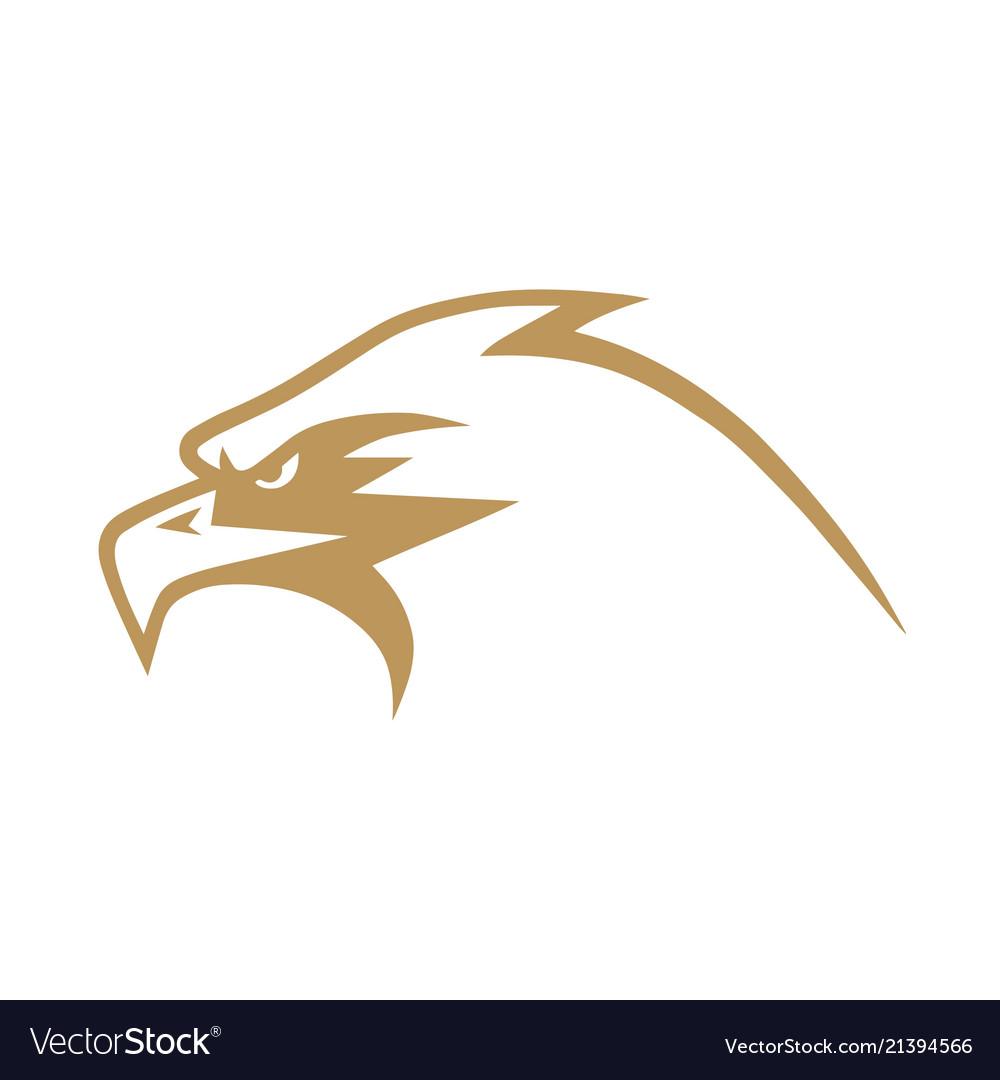 gold eagle logo design royalty free vector image
