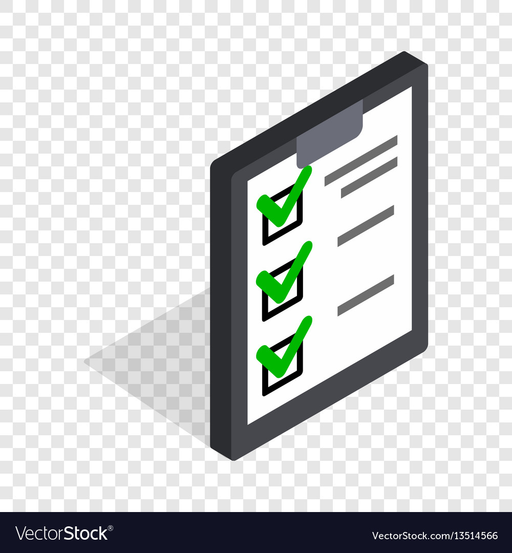 Plan is executed isometric icon vector image