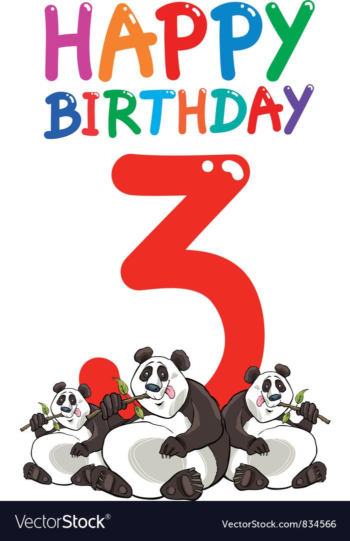 Third birthday anniversary card