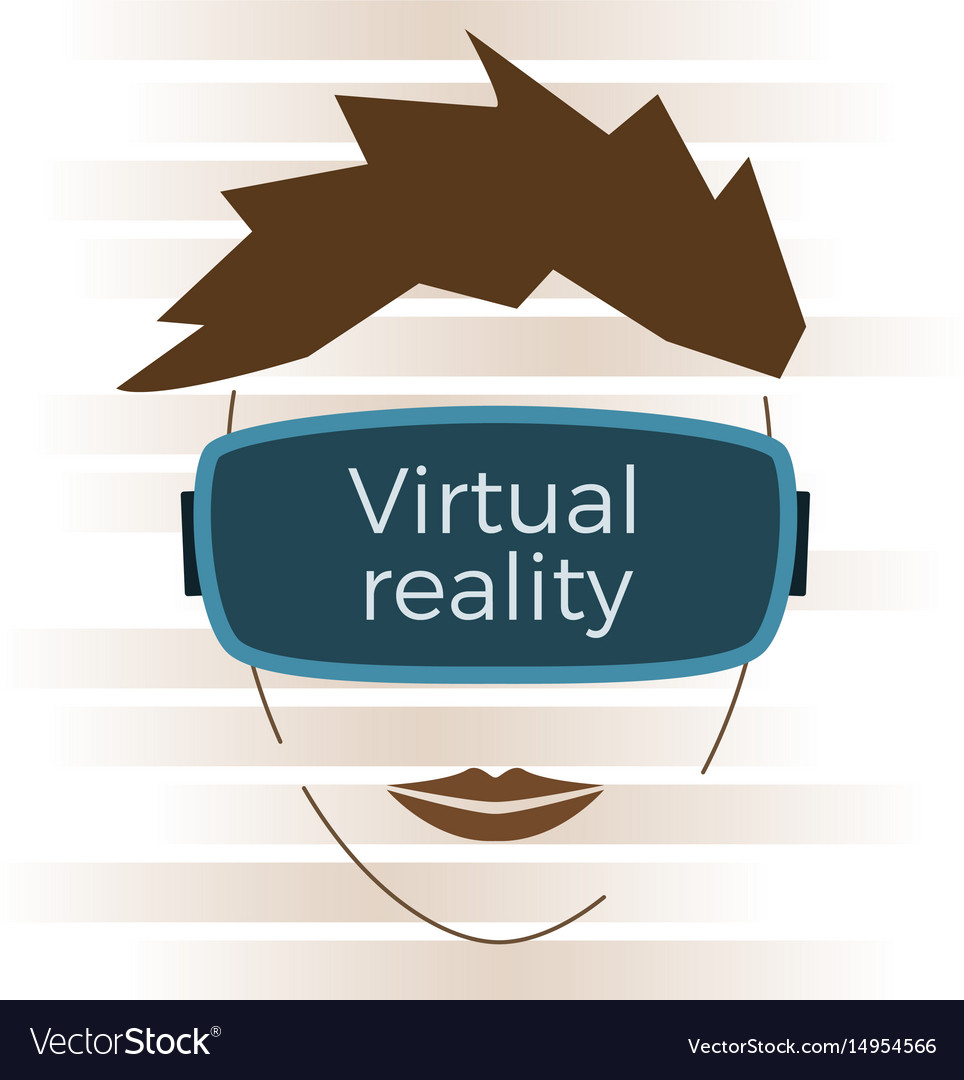 Virtual reality concept vector image