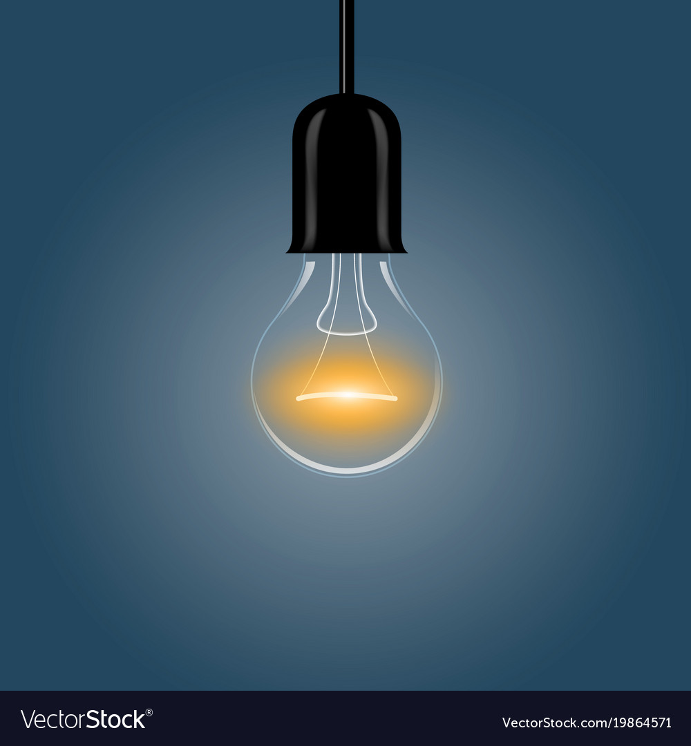 A Realistic Electric Light Bulb Hanging