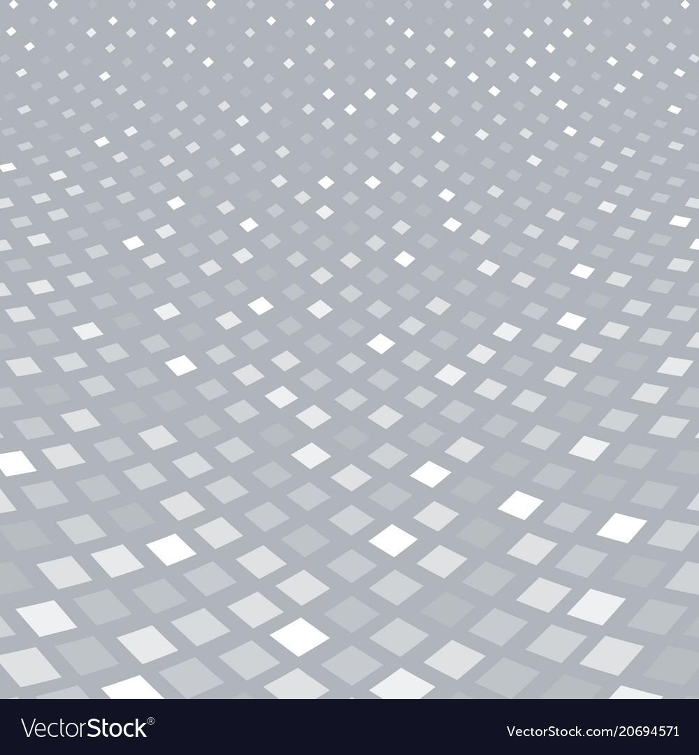 Abstract halftone white square pattern