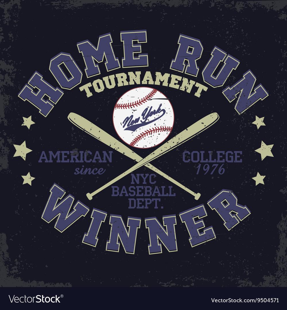 Baseball t-shirt print