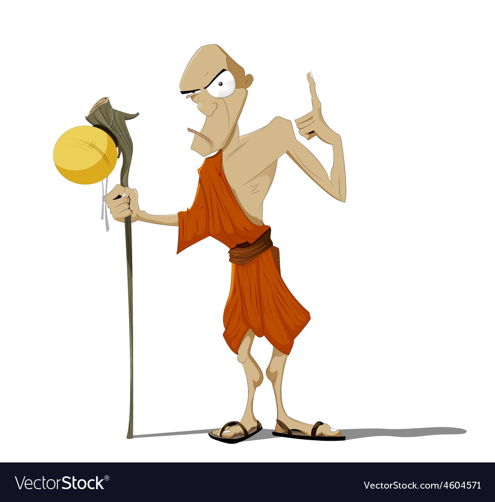 Buddhist Monk Royalty Free Vector Image Vectorstock