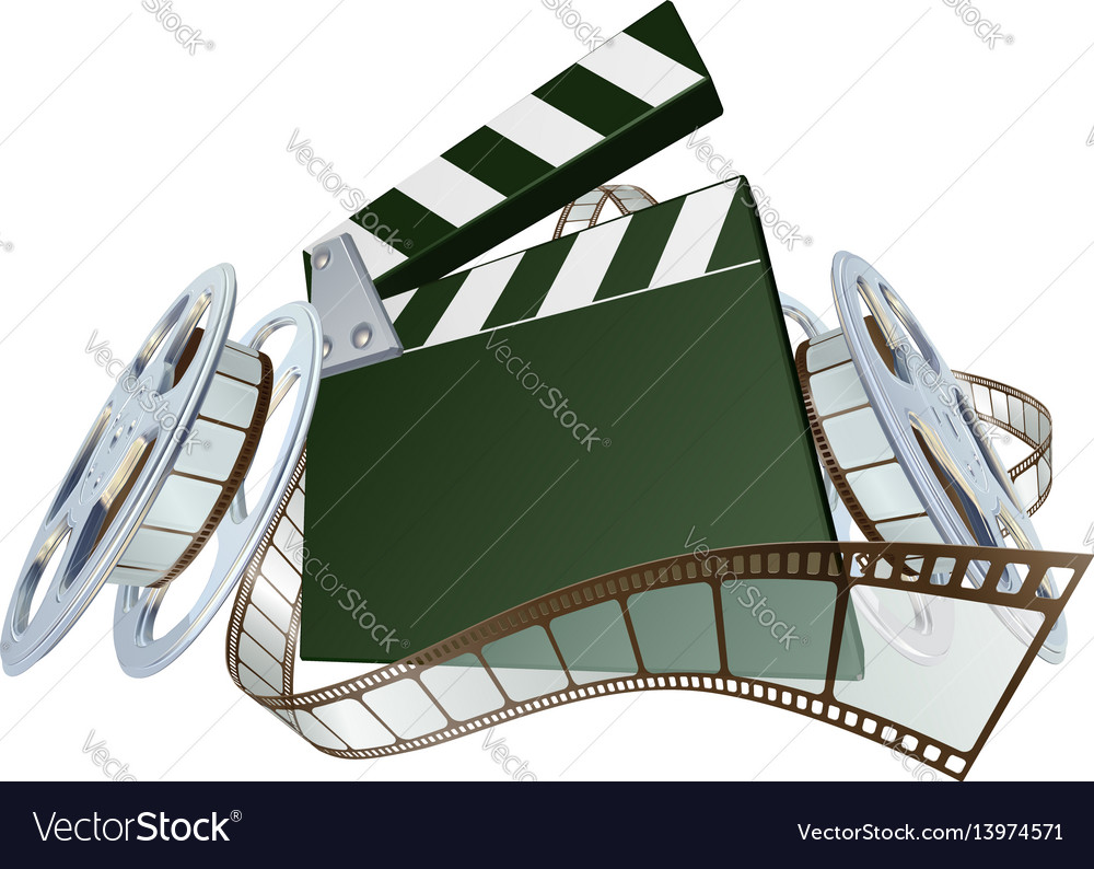 Film clapperboard and movie film reels royalty free vector film clapperboard and movie film reels vector image thecheapjerseys Choice Image