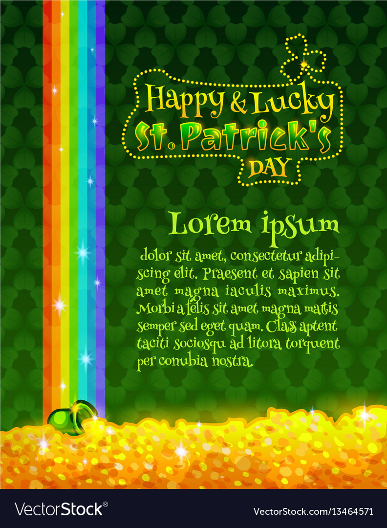 Happy and lucky st patricks day greeting card