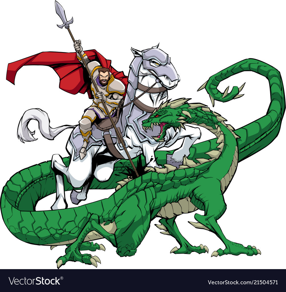 Saint george slaying dragon