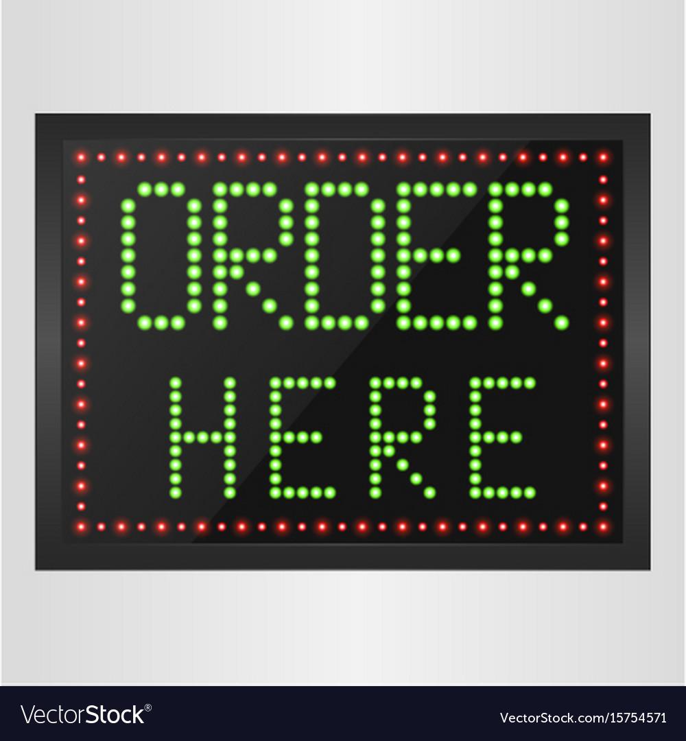 Shining retro light banner order here