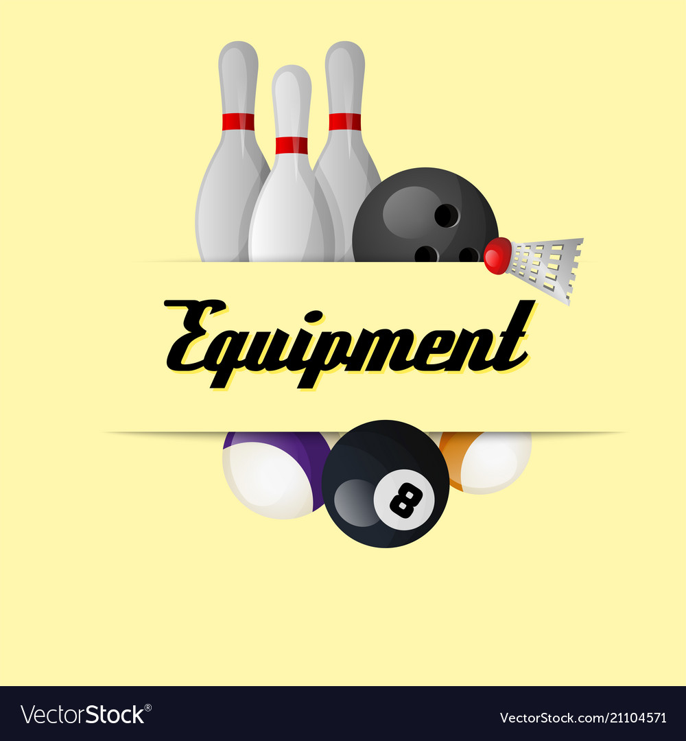 Sport equipment yellow background image