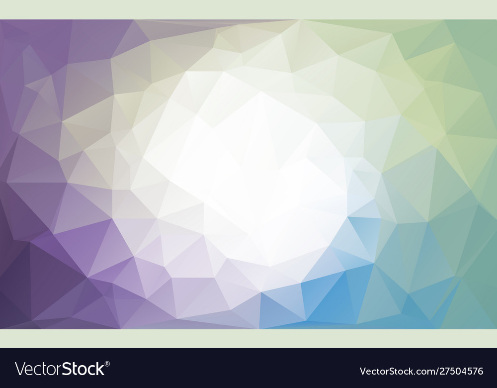 Colorful cold colors polygon background or