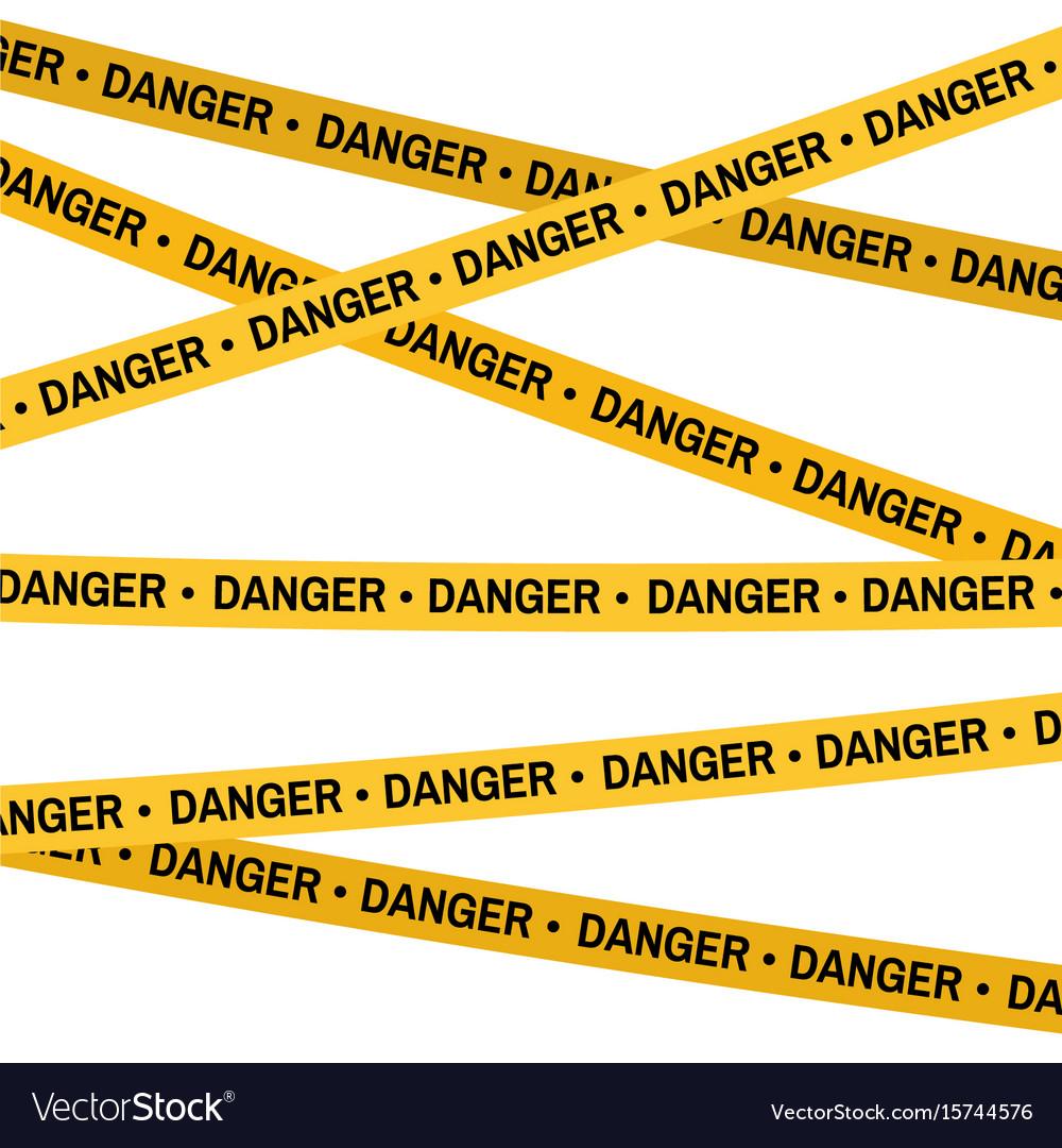 crime scene yellow tape police line do not cross vector image