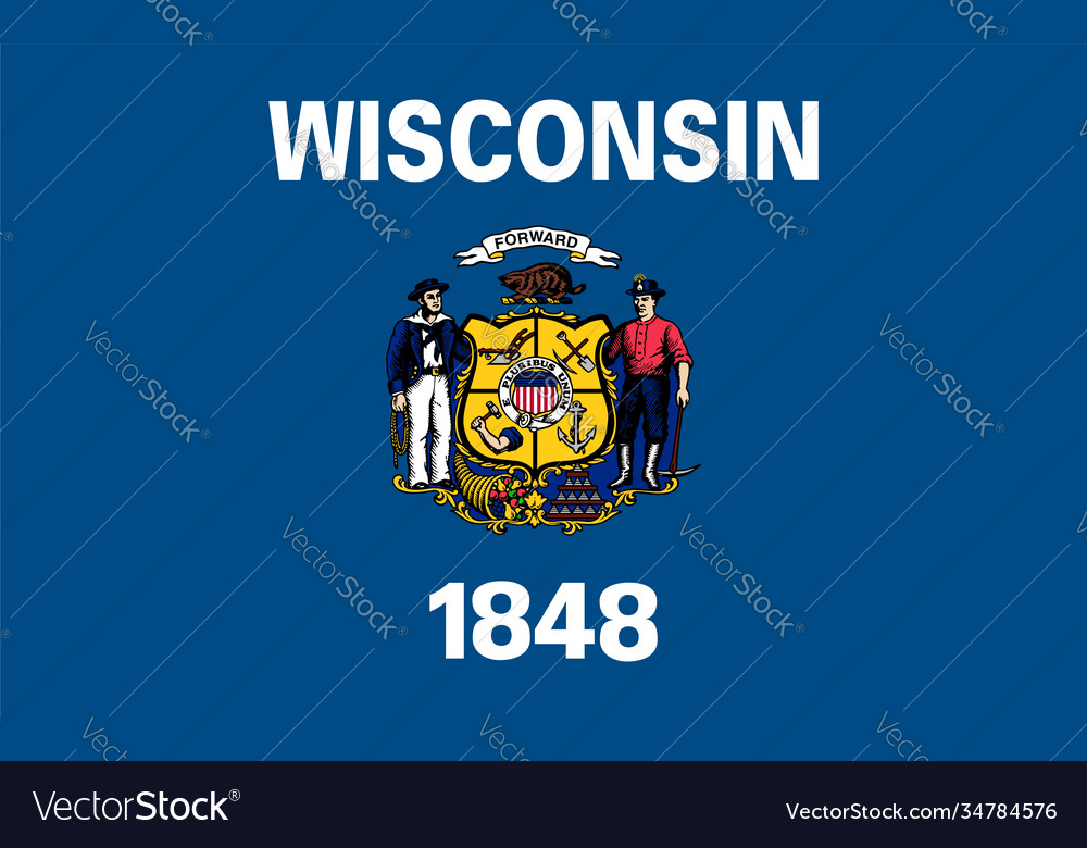 Flag usa state wisconsin