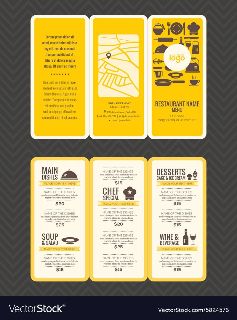 Modern Restaurant menu design pamphlet