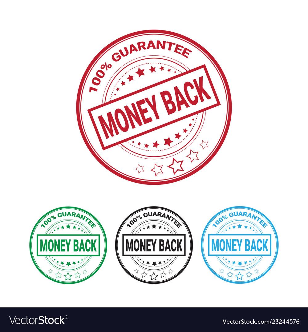 Money back guarantee 100 percents label set