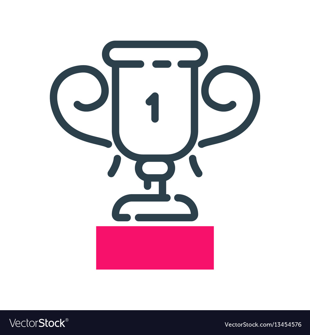 Motivation concept winner cup icon business