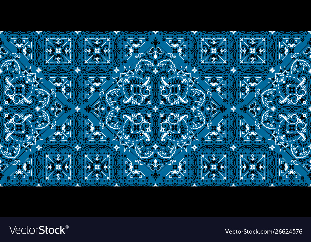 Seamless pattern based on ornament paisley bandana