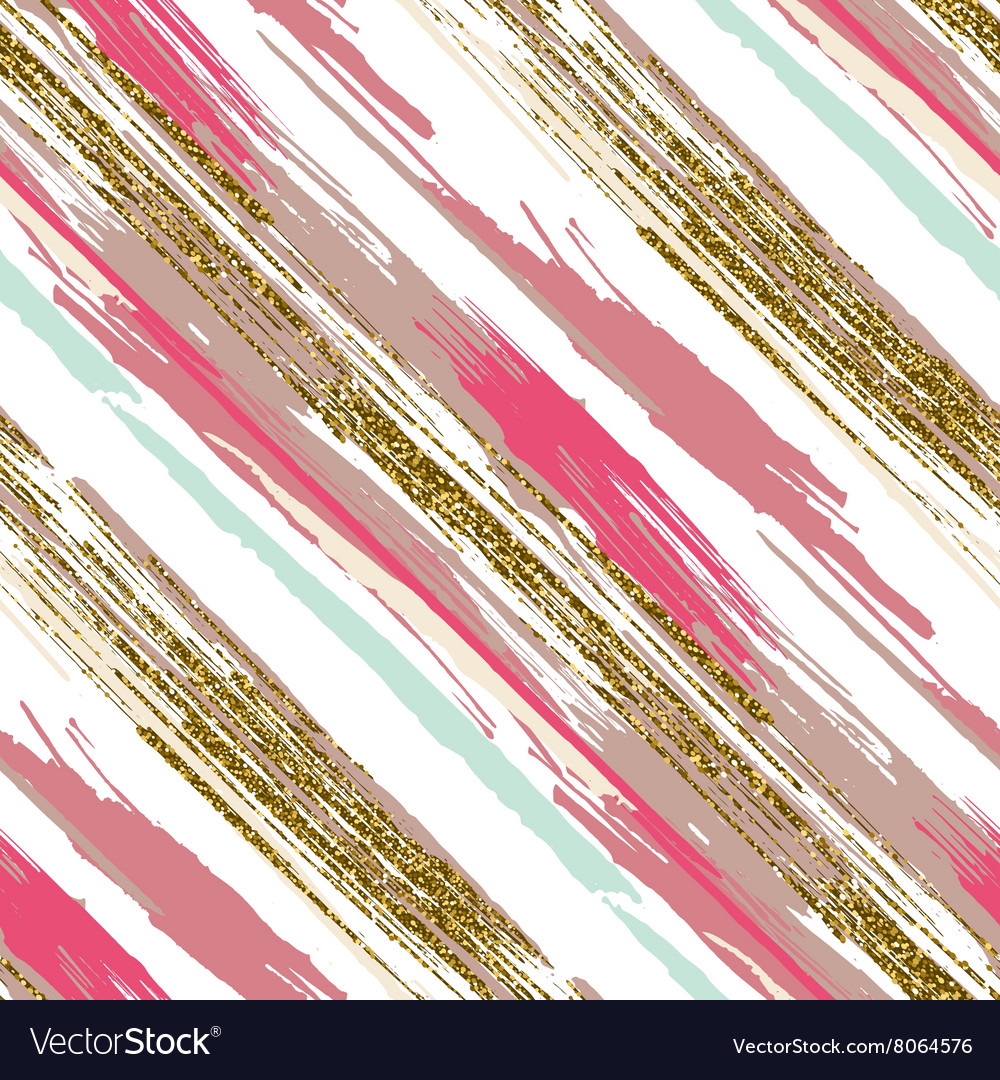 Seamless pattern with gold glitter textured