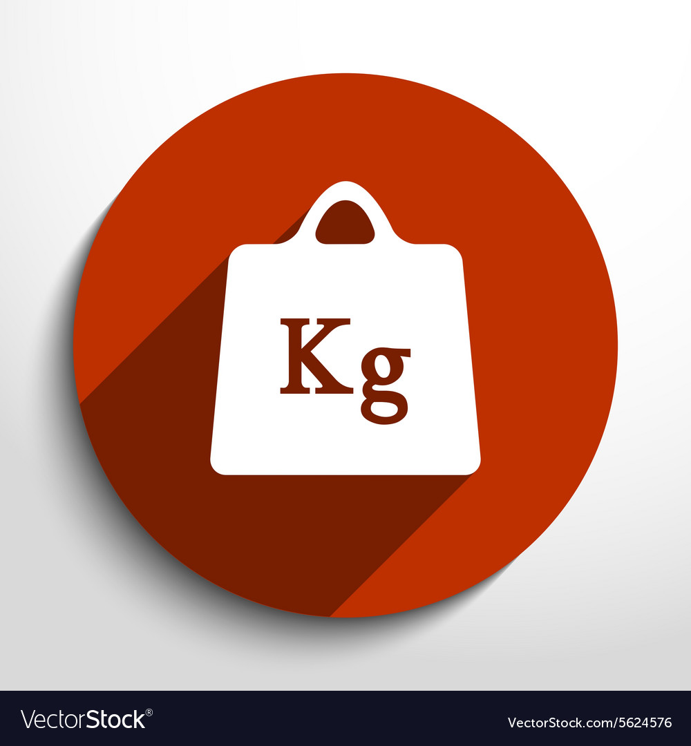 Weight web flat icon vector image
