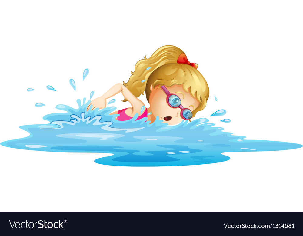 Картинки девочка плавает