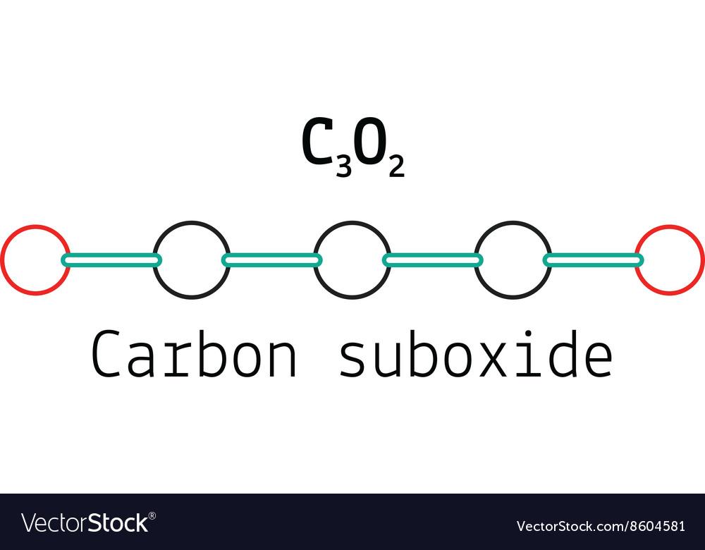 C3O2 carbon suboxide molecule vector image
