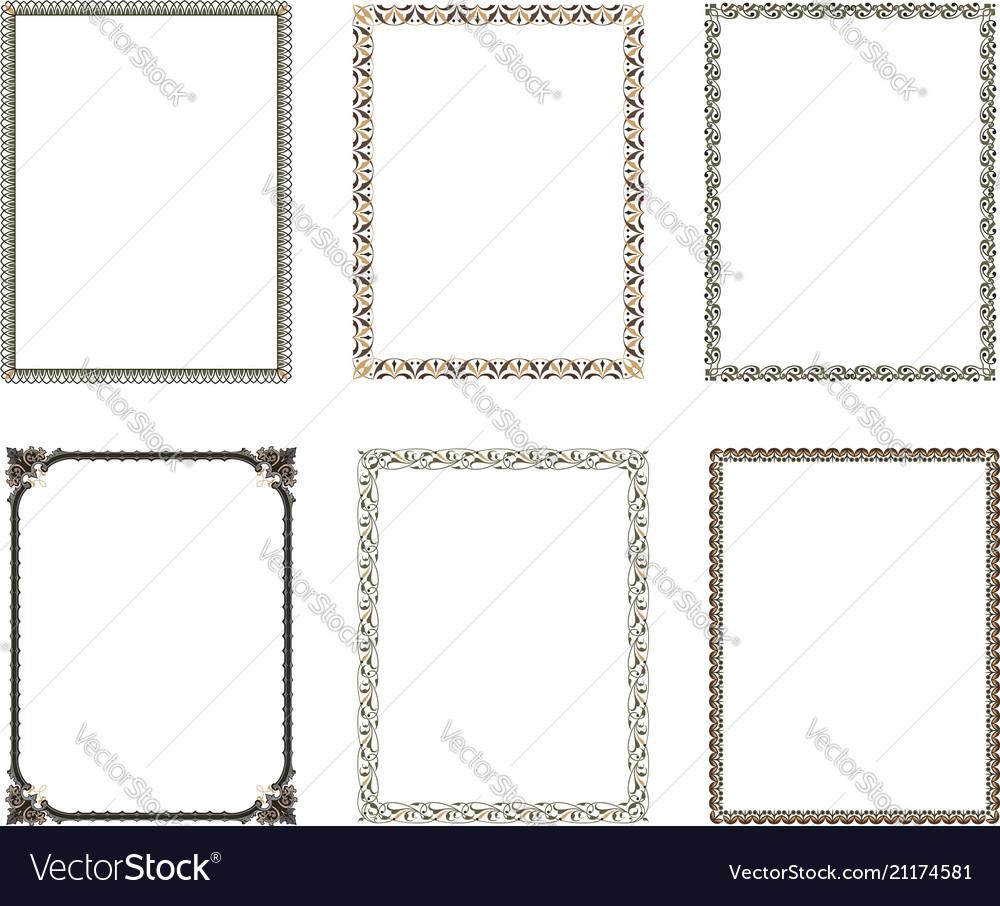 Decorative frame elegant element for design