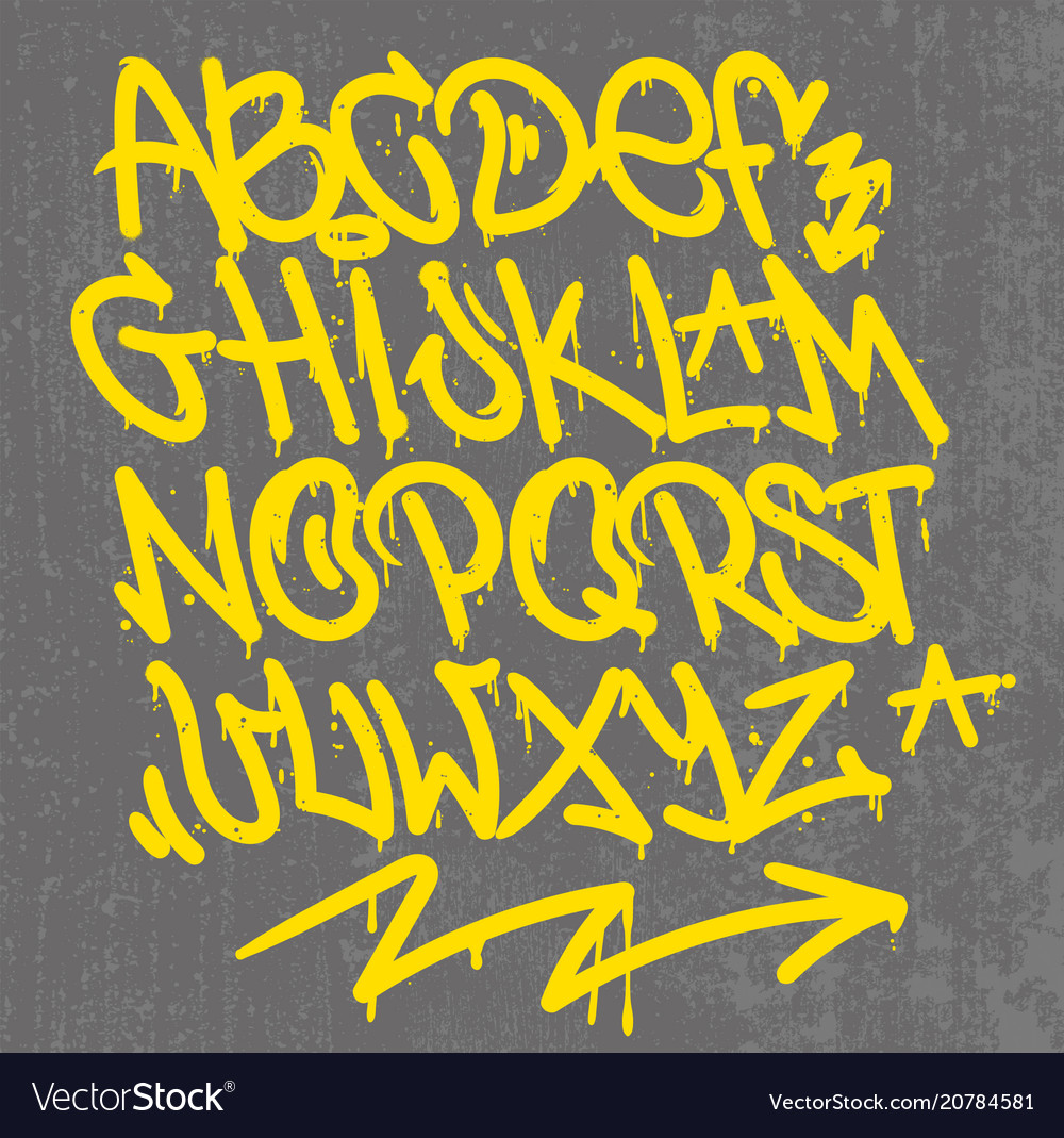 Graffiti alphabet Royalty Free Vector Image - VectorStock