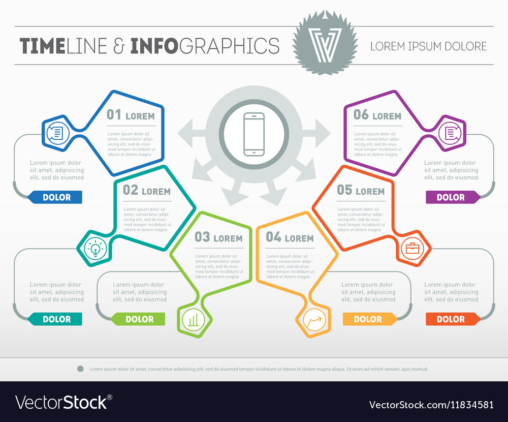Infographic of technology or education process Web