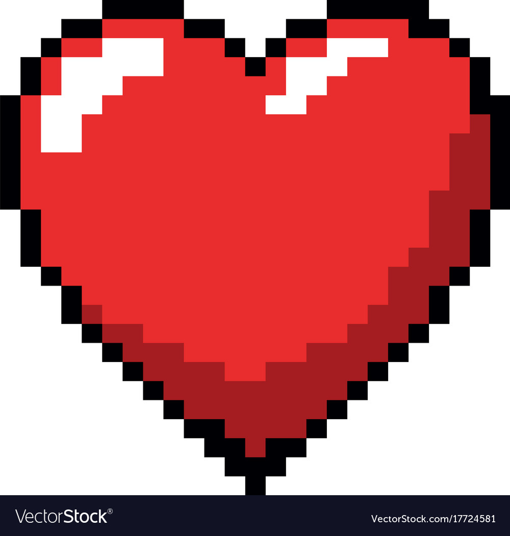 Pixelated Heart Game Icon
