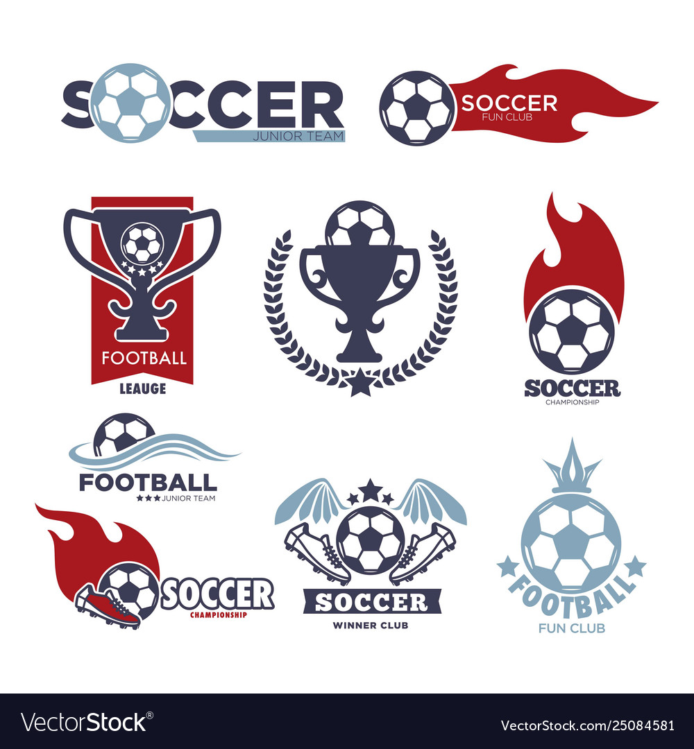 Soccer game isolated icons football sport