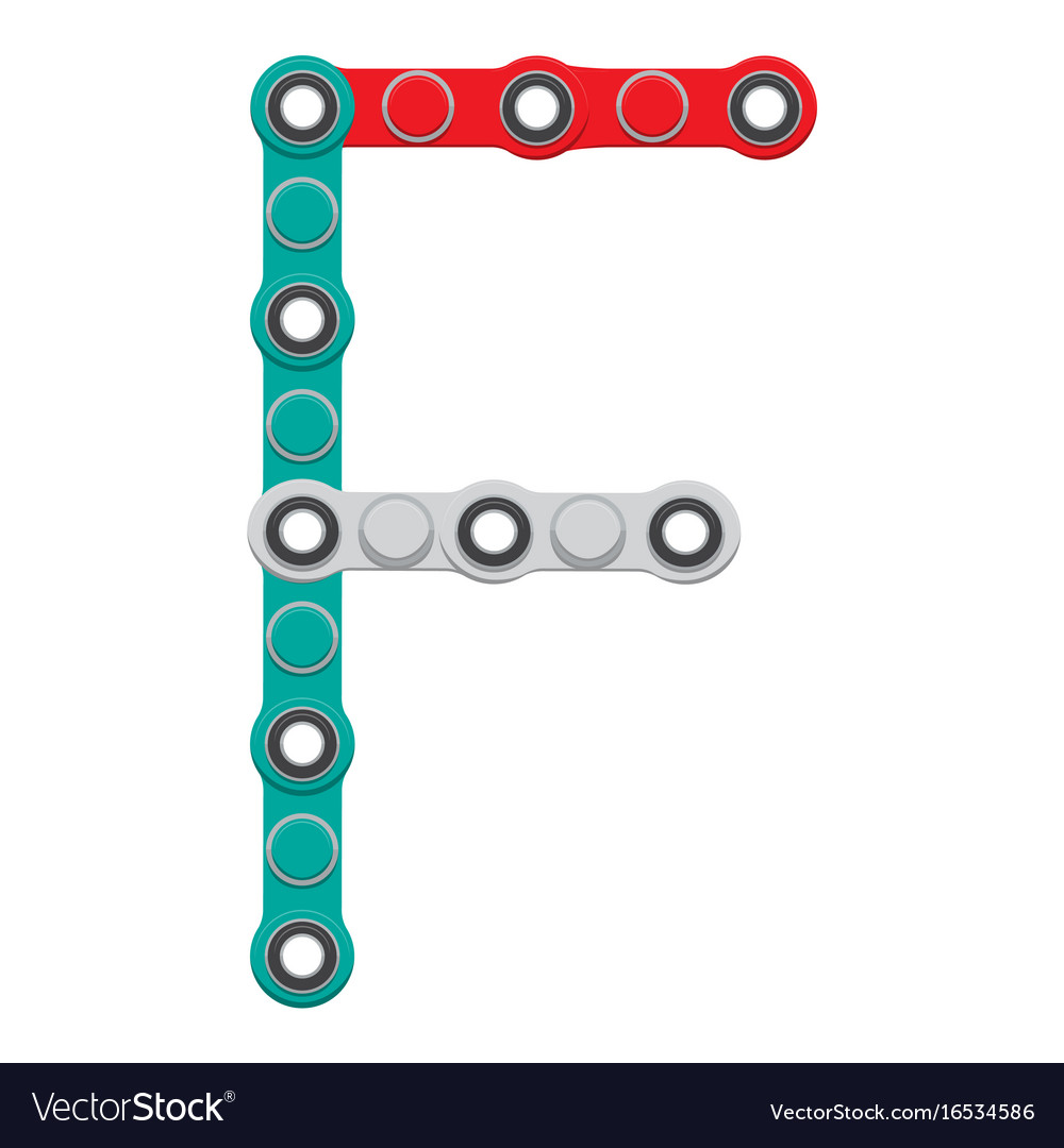 Alphabet from the new popular anti-stress toy