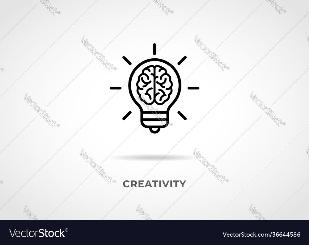 Creativity idea line icon